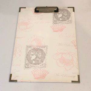 Pink And White Clipboard